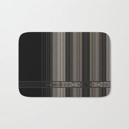 Modern Taupe Grey Ribbion Pattern Design Bath Mat