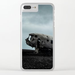Sólheimasandur Plane Wreckage Clear iPhone Case