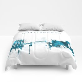 Chattanooga Monochrome Blue Skyline Comforters