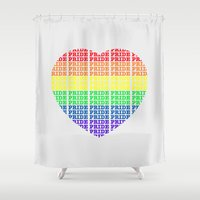pride Shower Curtains featuring Pride by Tony Vazquez