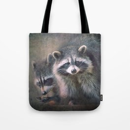The two Raccoons.. Tote Bag