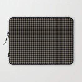 Mini Black and Sandstone Brown Western Cowboy Buffalo Check Laptop Sleeve