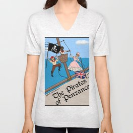 Pirates of Penzance Poster Unisex V-Neck