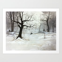 Winter meeting Art Print