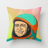 kevin russ Throw Pillows featuring Kevin Spacey by IvaDim