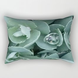 Raindrops on leaves  Rectangular Pillow