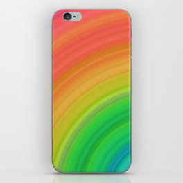 Bright Rainbow | Abstract gradient pattern iPhone Skin