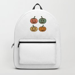 Pumpkin Retro Vintage Style Halloween Day Hallows-Eve Gifts Backpack