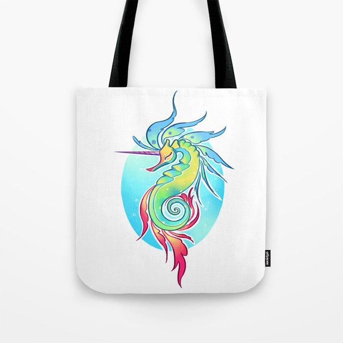 Sea Unicorn Tote Bag