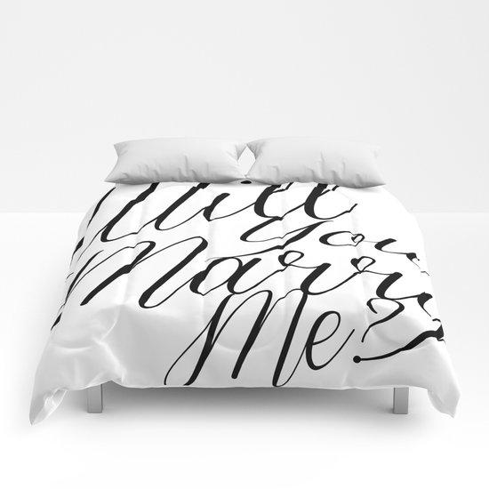 marry me? Comforters