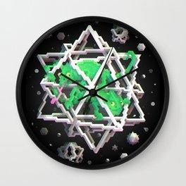 Trixel Stars - M. C. Escher Wall Clock