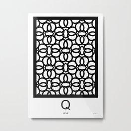 LETTERNS - Q - Arial Metal Print