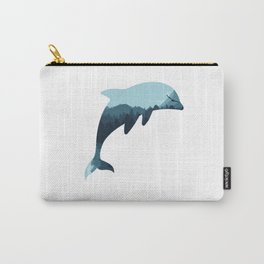 dolphin silhoutte Carry-All Pouch