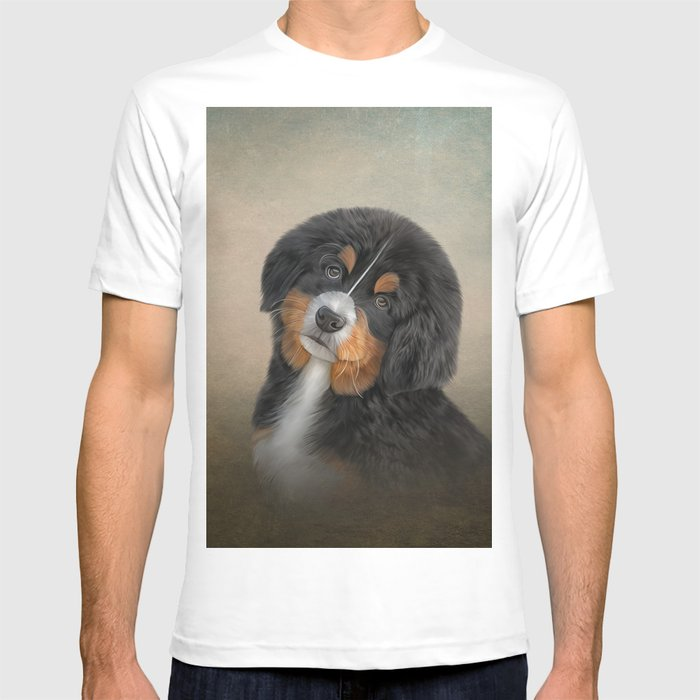 6b90e9aec7f3 Drawing puppy Bernese Mountain Dog 2 T-shirt by bonidog