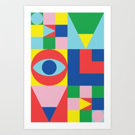 Abstract Evolution Art Print