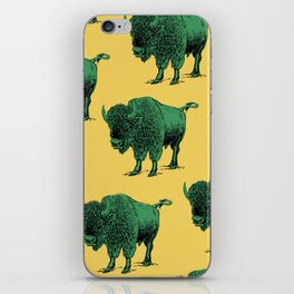 bison pattern iPhone Skin
