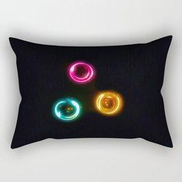 Three Color Light Circles Rectangular Pillow