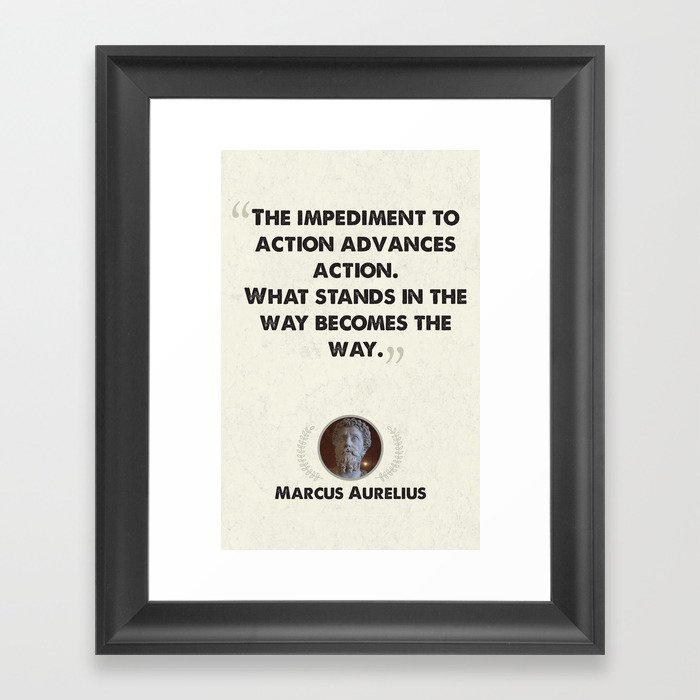 Marcus Aurelius on Obstacles Gerahmter Kunstdruck