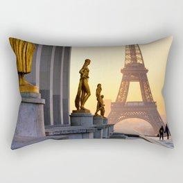 Sunrise in Paris France Rectangular Pillow
