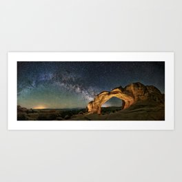 Broken Arch With The Rising Milky Way Art Print