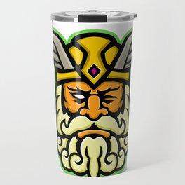 Odin Norse God Mascot Travel Mug