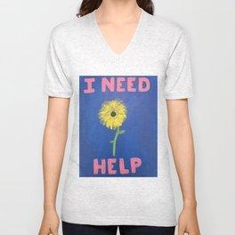 I Need Help Unisex V-Neck