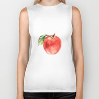 apple Biker Tanks featuring Apple by Anna Yudina