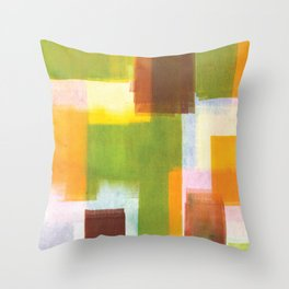 Color Block Series: Country Throw Pillow
