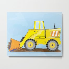 Construction Truck Art For boys bedroom decor Metal Print