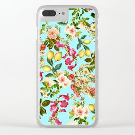 Lemon and Leaf Pattern IV Clear iPhone Case