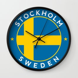 Sweden, Stockholm, circle Wall Clock
