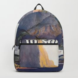 Fly to South Sea Isles, American Airways Vintage Travel Poster  Backpack
