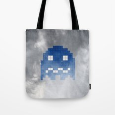 Pac-Man Blue Ghost Tote Bag