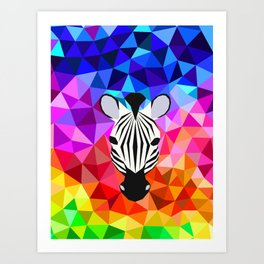 Zebra Dazzle Art Print