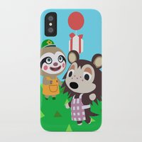 animal crossing iPhone & iPod Cases featuring Animal Crossing by Alex Owen