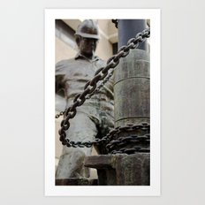 break the chain. Art Print