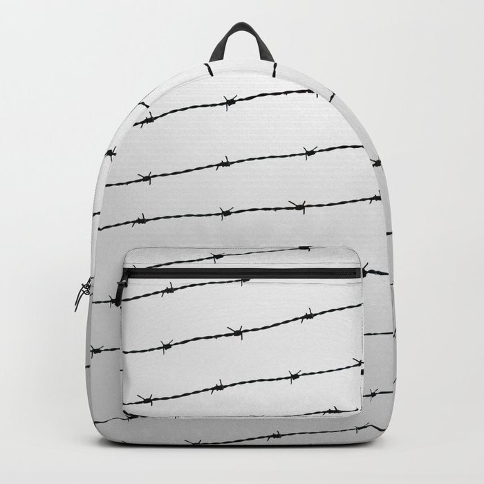 Cool gray white and black barbed wire pattern Backpack by pldesign ... 96cff94e26050