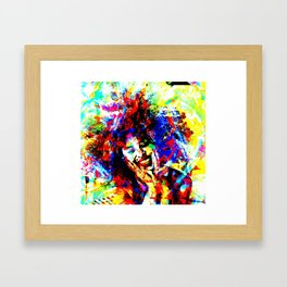 Colorful Funky Pop Art Portrait Framed Art Print