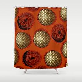 ORANGE RED GOLD Shower Curtain