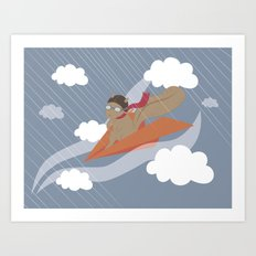 The Flying Squirrel Art Print