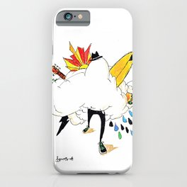 ED IN THE CLOUDS iPhone Case