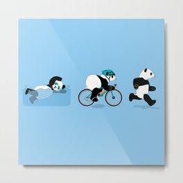 Panda Triathlon Metal Print