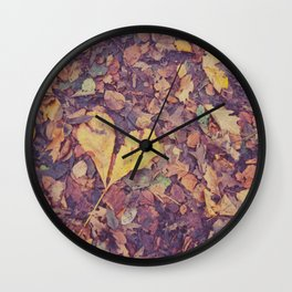 Love in Autumn Time Wall Clock