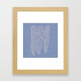 You Can't Kill Me Plants Blue and Cream Framed Art Print