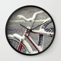 cycle Wall Clocks featuring Cycle by Kiersten Marie Photography