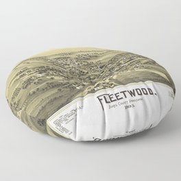 Aerial View of Fleetwood, Pennsylvania (1893) Floor Pillow