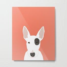 Bull Terrier cute puppy dog art print pet gift pets dog breed animal children kids illustration  Metal Print