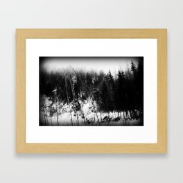 Forest Dark VII Framed Art Print