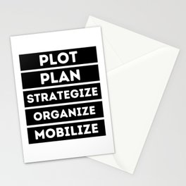 Plot Plan Strategize Organize Mobilize - Killer Mike Quote Stationery Cards