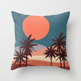 Abstract Landscape 13 Portrait Throw Pillow